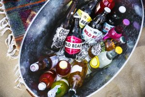 Beers in an ice bucket