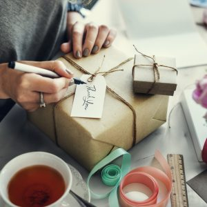 Surprise Gift Packaging Birthday Concept